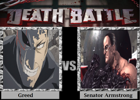 Armor Up: Greed vs Senator Armstrong by TheWickedAvatar1