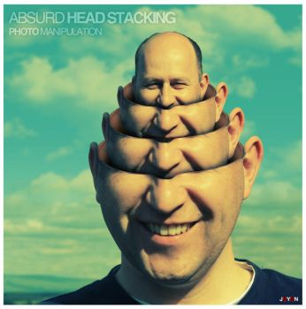 Absurd Head Stacking by jayicesight
