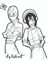 Aang and Toph - Teasing by Goten0040