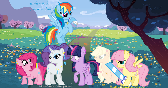 mlp mane 6 new style by NightSparkle99