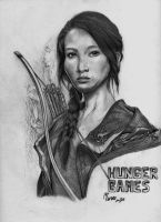 Jennifer Lawrence in The Hunger Games by maruna-sama
