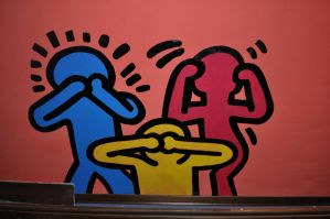 Keith Haring at Aenigma's by CrillyDraven