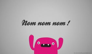 Attack of  Mr. Nom Nom Nom - Free - Wallpaper by mrsbadbugs