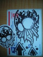 Newf Skull Variation Sticker by Jomo71