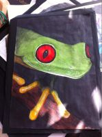 old frog drawing by stine