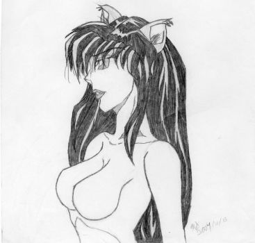 Kagome as a Hanyou by harryfan99