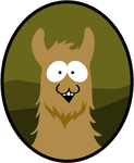 South Park Llama by anveshdunna