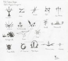 Flag Symbols and Insignias (by Brandon Hill) by WildSpaceSaga