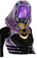 Tali Zorah vas Normandy by neilameane
