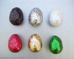 Sequin Dragon Eggs by BritneyPringle