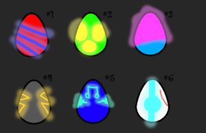 Glowy Eggs Adopts -closed- by Tori-Adopts