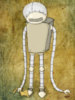 Marvin the depressed robot by nuhkol