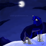 Nightly Howl by IgeWolf