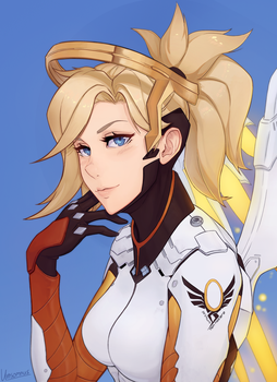 Mercy - Overwatch by Unsomnus