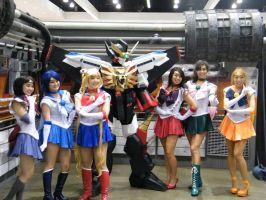 GaoGaiGar and The Sailor Scouts - Anime Expo by UbersCosplay
