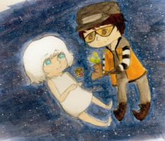 Wall-e and Eve by Sopheria