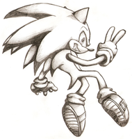 Sonic Drawing by Kelskora