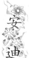 Blossom kanji Tattoo Design by 2Face-Tattoo