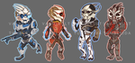 ME: Turian stickers by Vaahlkult