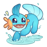 Pokemon - Mudkip! by oddsocket