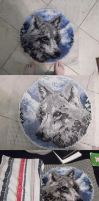 Wolf latch hook rug by ThePsychoSloth