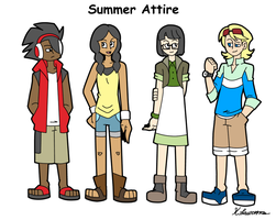 4-Player Summer Attire by ObsidianWolf7