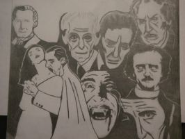 Classic Horror Actors by ScFiGirl