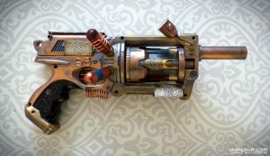 Steampunk Gun : TinkSPG : Right Side by HyperXP
