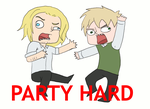 PARTY HARD -GIF- by spanabanana