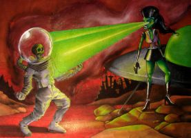 Space Amazons From Planet X by remillardart