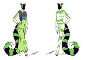 100 Themes - Cat Anthro Adopt - Adopted by Feralx1