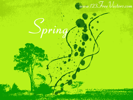 Spring Vector Background by 123freevectors