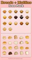 Muffins + Breads ICON PACK by Karisean