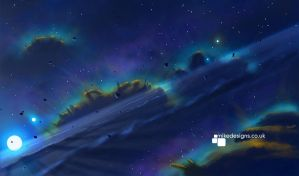 Space Scape 1 by qwertyDesign
