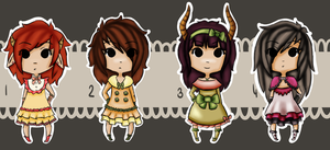 Chibi Adoptable Batch #01 -  The nobel ones xD by Astaras-Adopts
