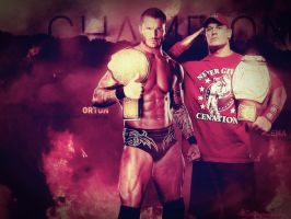 Randy Orton and John cena HQ by tuhin98