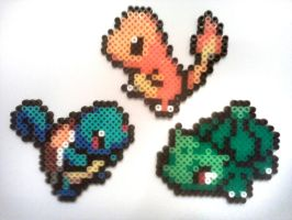 Fuse Bead Starter Pokemon by ProbonoBear