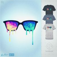 Psychedelic Nerd Glasses at Threadless by mrsbadbugs