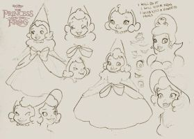 Disney Charlotte sketches by florals
