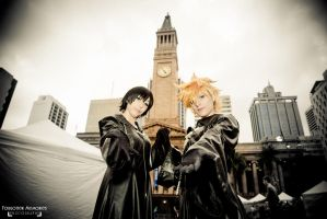 Kingdom Hearts: Roxas and Xion by nayzeers