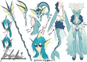 :.Cosplay/Outfit Commission - Vaporeon.: by HokoriCupcake