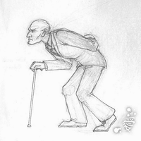 Mr Mann walk cycle by Tanita-sama