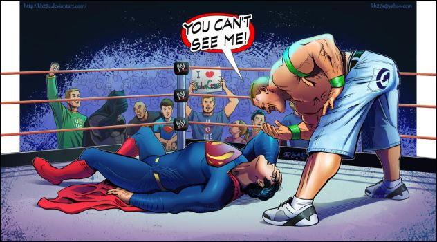John Cena vs Superman by kh27s
