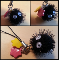 Sootsprite Cell Charm by loafking
