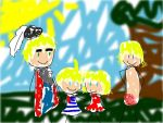 The blond family by dragon0inside0me