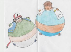 Ash and Diego Inflated by Retro35923