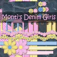 Monti's Denim Girls Scrap Kit by justmonti