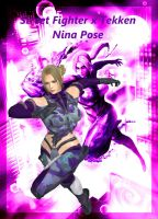Street Fighter x Tekken: Nina Pose by MissCatarina