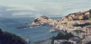 Italian port - speed painting by RQuack