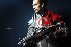 Mass Effect 3 Shepard Cosplay Blood Dragon Armour by LeonChiroCosplayArt